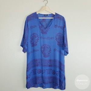 Earthbound • Blue Shiva Namaste Pattern Tunic Tee
